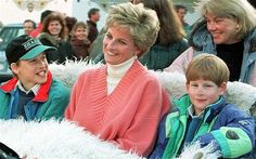 Family was very important to the Princess and she delighted in involving her children in as many of her outings as possible, pictured here in 1994.