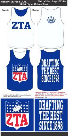 Zeta Tau Alpha Tank  http://www.greekt-shirtsthatrock.com/  http://www.pinterest.com/SratStylista/