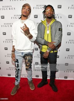 Quavo and Offset of the Group Migos attend the 'Hidden Figures' Soundtrack Listening Party on November 16, 2016 in Atlanta, Georgia.
