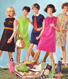 .1960's....  I was one of the girls with very short brown hair--I do remember a blue short dress!!!!Those were the fun days!!!