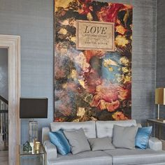 Get inspired by all our living room design ideas on HOUSE - design, food and travel by House & Garden. A painting by Harland Miller, which hangs above a sofa in the drawing room.