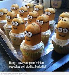 funny photos minion cupcakes despicable