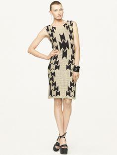 I love the open weave on this linen and silk blend hand-knit Ralph Lauren dress!  #amyesperstyling
