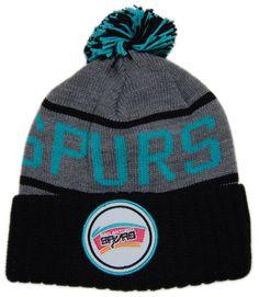 Mitchell & Ness x NBA - 'San Antonio Spurs - High 5 Cuffed Knit' (Winter Beanie Hat)