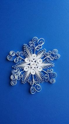 paper quilled snowflake
