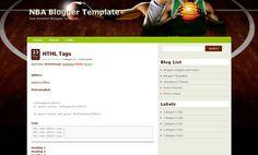 NBA Blogger Template Blogspot