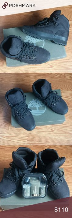 Timberland & cleaner Eurohiker men's timberland Exelent conditions Like new use once very clean  free cleaner kit Timberland Shoes Boots