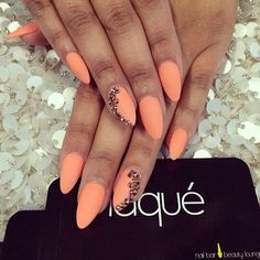 Matte neon peach