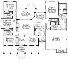 Home Plans HOMEPW17901 - 2,638 Square Feet, 3 Bedroom 3 Bathroom Ranch Home with 2 Garage Bays