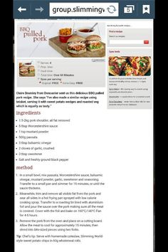 Slimming world pulled pork. Yummiest naughtiest syn free meal ever x Slimming World Tips, Slimming World Dinners, Slimming World Recipes Syn Free, Slow Cooker Recipes, Cooking Recipes, Healthy Recipes, Skinny Recipes, Healthy Foods, Healthy Eating