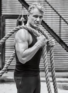 Dolph Lundgren and Florian Munteanu, who play Ivan and Viktor Drago in Creed open up to Men's Health about playing villains, family, workouts, and more. Flying First Class, Dolph Lundgren, Actrices Sexy, The Expendables, Body Image, Male Body, Martial Arts, Hot Guys, Eye Candy