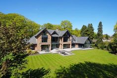 6 bedroom detached house for sale in Fabulous contemporary house in beautiful one acre garden on Leycester Road, Knutsford - Rightmove. Floating Staircase, Indoor Swimming Pools, Best House Plans, House Goals, Life Goals, New Builds, Detached House, Property For Sale, My House