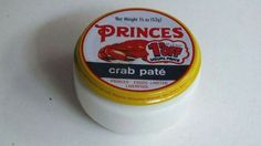 Princes Crab Pate was a treat for high days and holidays, and came in a little glass jar Retro Recipes, Vintage Recipes, Vintage Food, Retro Vintage, Retro Food, 1970s Childhood, My Childhood Memories, Childhood Toys, Food Advertising
