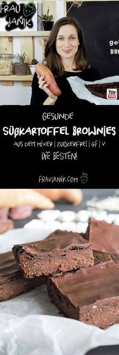 Gesunde Süßkartoffel Brownies Vegan Cake vegan cake like brownies Sweet Potato Brownies Vegan, Healthy Brownies, Vegan Brownie, Healthy Cake, Brownie Recipes, Zucchini Brownies, Healthy Zucchini, Protein Brownies, Dessert Oreo