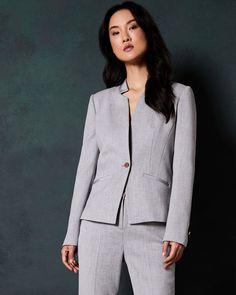 NUOVO Donna Ladies Pearl Con Perline Su Misura Casual Ufficio Festa Blazer Jacket Coat UK