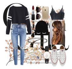 """""""Untitled #46"""" by clodfever on Polyvore featuring H&M, Converse, Rifle Paper Co, Ray-Ban, MAC Cosmetics, Daniel Wellington, Alex and Ani, women's clothing, women's fashion and women"""