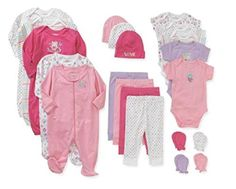 Garanimals Newborn Baby Perfect Shower Gift 21 Piece Set (0-3 Months, Pink)