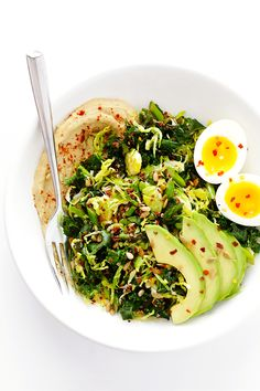 Hummus and Veggie Breakfast Bowls