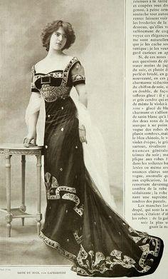 Downton Abbey Fashion Era -  Les Modes (Paris), Robe du soir 1909