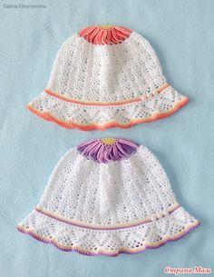 Цветочные панамки для дочек - Вязание для детей - Страна Мам