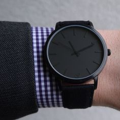All black and all matte, Jamming Joe Canvas - get it at www.gaxswatches.com #gaxswatches