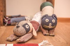 Patchwork dog and cat draught stoppers from Mahaguthi in Nepal - too cute