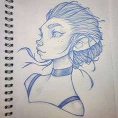 New drawing in my sketchbook, drawn with blue lead in a 0.7mm mechanical pencil . Critique always welcome! Youtube; AnthuluArt Facebook;…