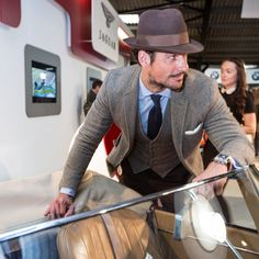 Image result for what to wear to goodwood revival Goodwood Revival, Modern Gentleman, David Gandy, Panama Hat, Supermodels, What To Wear, Suit Jacket, Henry Poole, Jackets
