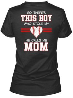 Official T-shirt for Proud Baseball Moms