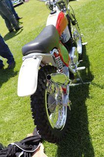 OldMotoDude: 1973 Bultaco Pursang Model 103 on display at the 2019 Quail Motorcycle Gathering -- Carmel, Ca. Bultaco Motorcycles, Racing Motorcycles, Vintage Motorcycles, Custom Motorcycles, Motorcycle Museum, Honda Cx500, Japanese Motorcycle, Motocross Bikes, Bike Shed