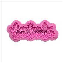 Floral lace projeto silicone fondant bolo de wrapper cupcake de chocolate artesanal molde sabão silicone DIY decoração(China (Mainland))