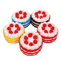 10cm Jumbo Squishy Morango Cake Rosa Amarelo Vermelho Café Slow Rising Coleção Gift Decor Toy Venda - Banggood.com