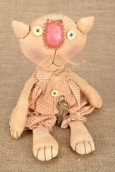 "Soft primitive doll ""Cat"""
