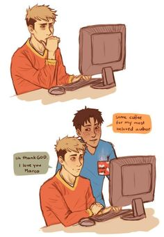 Attack on Titan Marco Bodt x Jean Kirstein Cute<<< I'm a writer, can I have a boyfriend like him?
