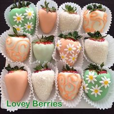 Lovey Berries Bridal Shower Assortment! #ChocolateCoveredStrawberries