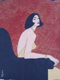"Saatchi Art Artist Tanya Dimitrova; Painting, ""La séductrice"" #art"