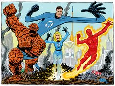 Fantastic Four | Lineart by Gerry T | Color by Paul Downey