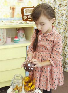 Girls bow tie dress