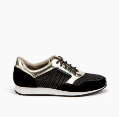 Runner Mens Gold + Black Mirror Leather + Mesh + Split Suede | United Nude's luxury Runner sneaker continues into spring. The leather details are combined with United Nude's eye-catching prints or signature elastics, finished with a moulded EVA and rubber outsole.