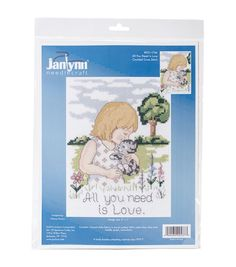 All You Need Is Love Mini Counted Cross Stitch Kit-5