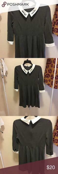 Peter Pan collared dress. NWOT. Never worn before. Semi-Formal style. ( 160/84A) La Chapelle Dresses Mini