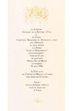 """31/08/1990 - Soirée """"Putes et maquereaux"""". Design: Christophe Brochier Personalized Items, Design, Winter Games, Gaming, Design Comics"""