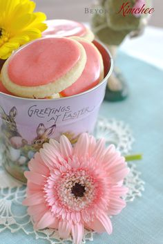 Soft Sugar Cookies with Fresh Strawberry Icing. They sound delicious and easy to make. Nice for Mother's Day.