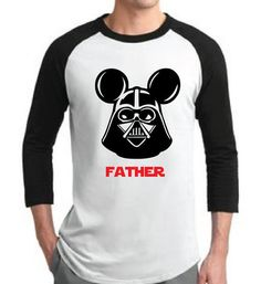 Disney star wars darth vader mickey or minnie ears sleeve shirts Universal Orlando, Disney Dream, Disney Love, Disney Vacations, Disney Trips, Star Wars Darth, Darth Vader, Stitch 626, Disney Familie