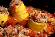 Tonight's dinner: Lebanese Stuffed Squash (Koosa)   Tasty Kitchen: A Happy Recipe Community!
