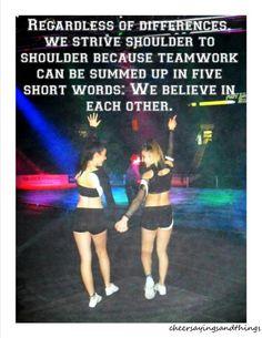 5 short little words: we believe in each other.