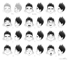 PARANORMAN facial expressions One of my first... | Pete Oswald