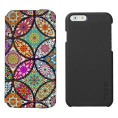 Floral mandalas creative circles art pattern iPhone 6/6s wallet case