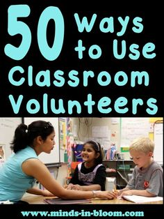 "Parent volunteers are helping a teacher ""outsource"" their work. Here are 50 Ways to Utilize Classroom Volunteers - this is a great post from Rachel of Minds in Bloom Classroom Volunteer, Kindergarten Classroom, Future Classroom, School Classroom, Classroom Ideas, Volunteer Ideas, Classroom Helpers, Classroom Organisation, Teacher Organization"
