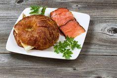 Wild Alaskan Smoked Salmon with your favorite mild cheese served with a buttery croissant. Who needs restaurant food? Peppered sockeye, natural sockeye and pink chunks, individually pouch sealed for your convenience.